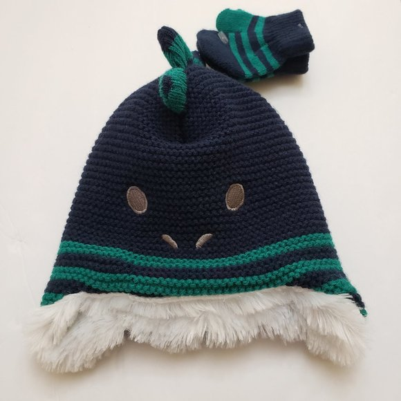 New Toby Tiger Blue Stripy Woolly Hat